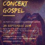 Affiche du concert du 29 Septembre 2020