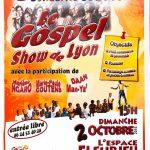 """Affiche du """"Gospel show de Lyon"""" 2016"""
