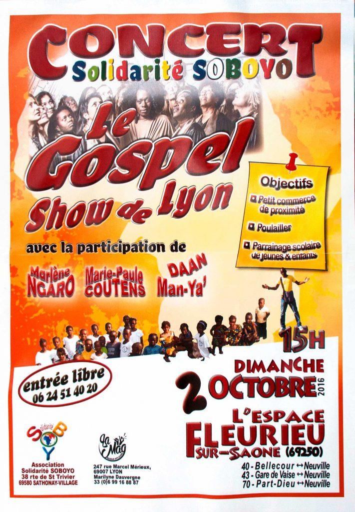 """Affiche du """"Gospel show de Lyon"""""""