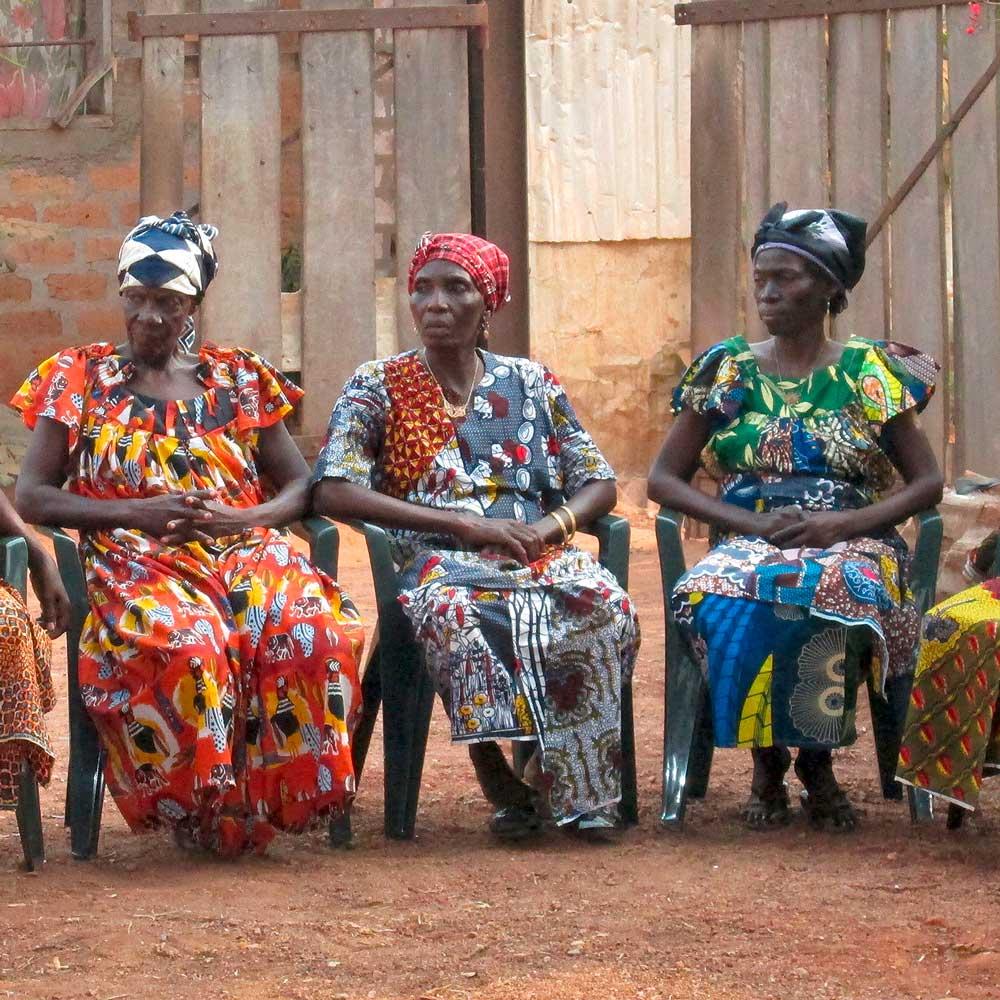 Banguissoises durant réunion de l'association