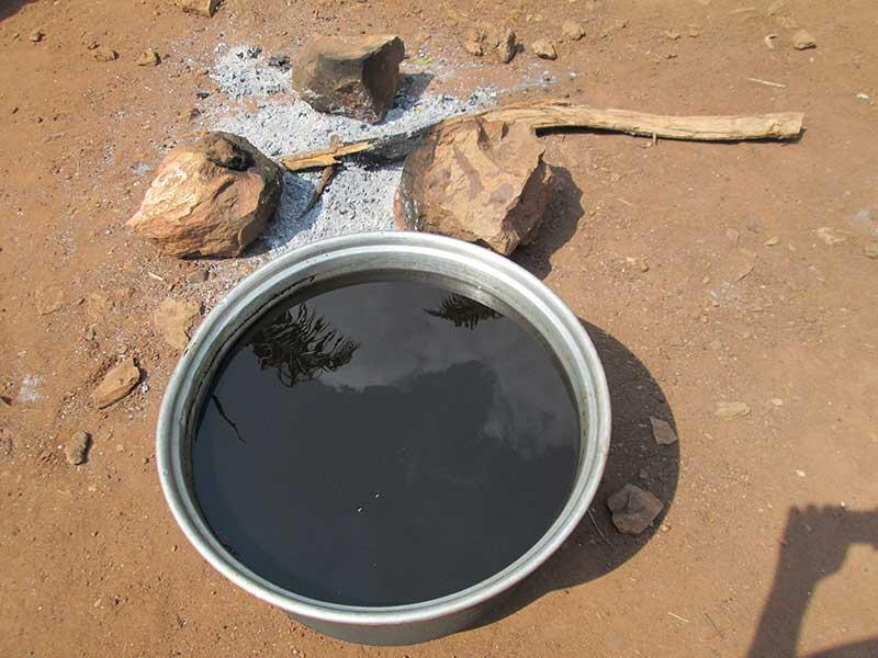 Mélange huile de palme et spiruline en vue de fabriquer le savon