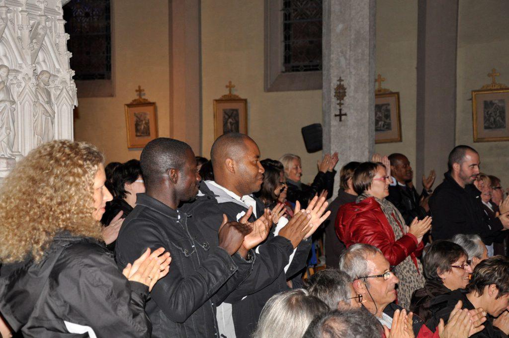 Applaudissements du public durant le concert du 19 Octobre 2012.